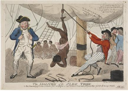 노예 무역의 금지 (The Abolition of the Slave Trade) (1792), Isaac Cruikshank